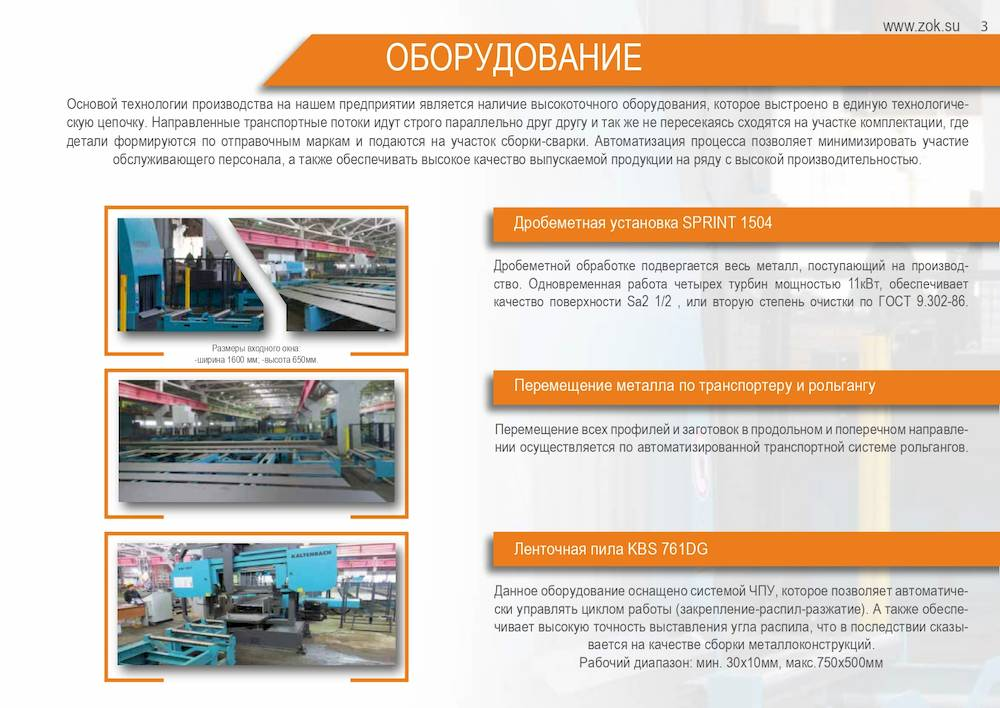 Оборудование завода ограждающих конструкций